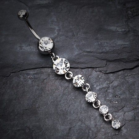 Crystalline Droplets Fall Belly Button Ring