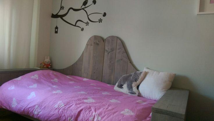 Steigerhouten bedbank