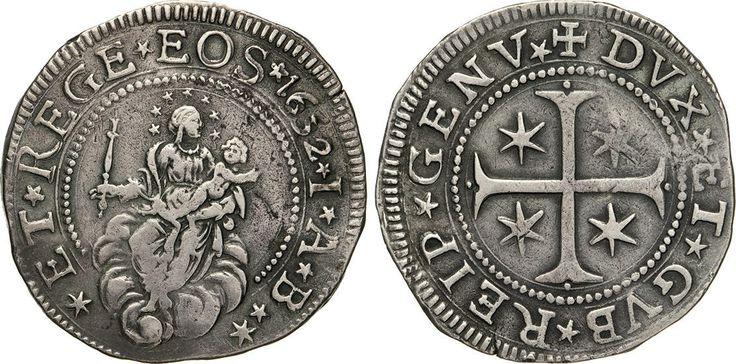 NumisBids: Numismatica Varesi s.a.s. Auction 65, Lot 396 : GENOVA - DOGI BIENNALI, III fase (1637-1797) Mezzo Scudo 1652,...