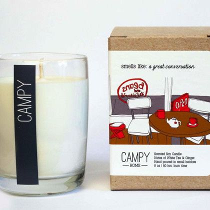A Great Conversation Candle by Campy Home
