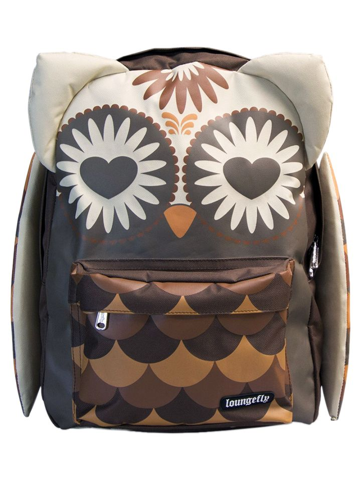 Owl Face With Ears And Wings Backpack by Loungefly