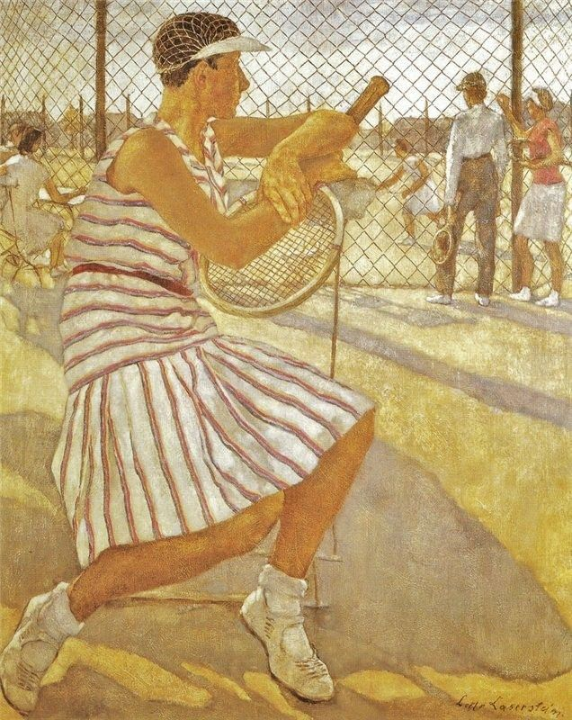 Lotte Laserstein (German artist, 1898-1990) Tennis Player 1929. – It's About Time: German artist Lotte Laserstein 1898-1990