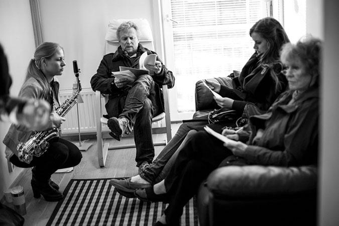 On rehearsal. Foto Bård Gundersen