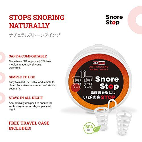 HOW IT WORKS:   Our snoring relief nasal dilators are gently placed in the nostrils to immediately improve the flow of air through the nose. Opening nasal passages prevents the vibration of the soft palate, which allows you to breathe easily and eliminate snoring.   Also, it is almost invisible...