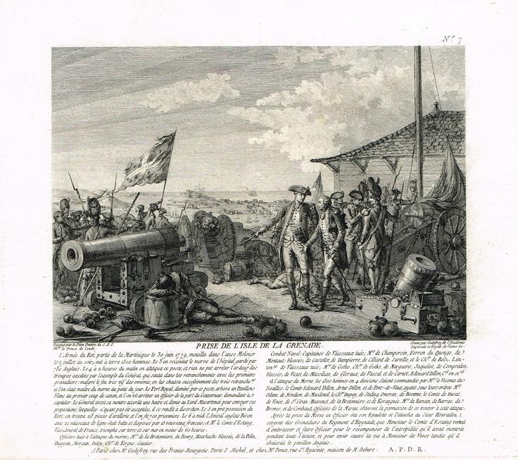 Prise de la Grenade le 6 juillet 1779