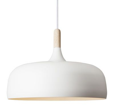 Suspension Acorn Blanc / Bois naturel - Northern Lighting - Décoration et mobilier design avec Made in Design