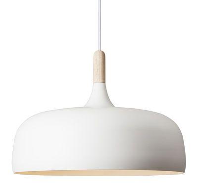 Suspension Acorn Blanc / Bois naturel - Northern Lighting - Décoration et mobilier design avec Made in Design