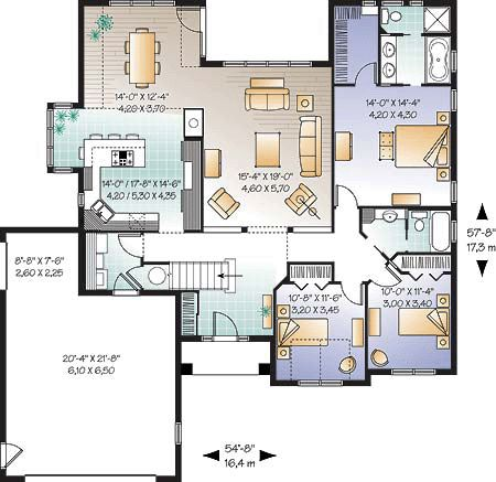 first floor plan of bungalow european florida 21237 | bb54564943dbea2cfbde0bb02870b522