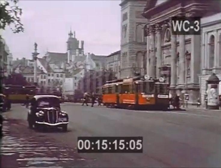 Przedwojenna Warszawa w kolorze 1939 nieznany film! Pre-War Warsaw in co...