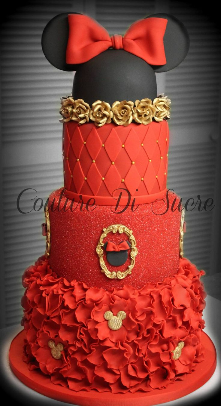 Couture Di Sucre Minnie Mouse Cake