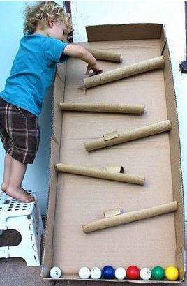 Great #DIY idea for kids! How to make a #pinball with using cardboard. #Traditional #game.