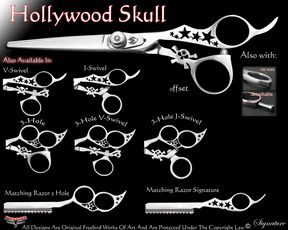 Hollywood Skull Hair Shears & Grooming Shears