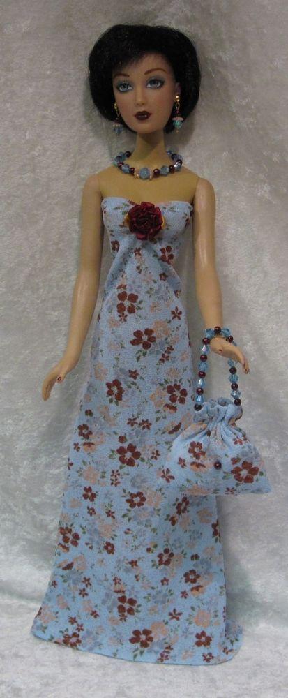 ALEX Madame Alexander Doll Clothes #09 Dress, Purse, Necklace, Earrings Set #HandmadebyESCHdesigns