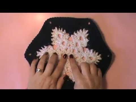 """""""Snowflake Afghan""""- Video 1 of 2 (snowflake motif) - YouTube"""