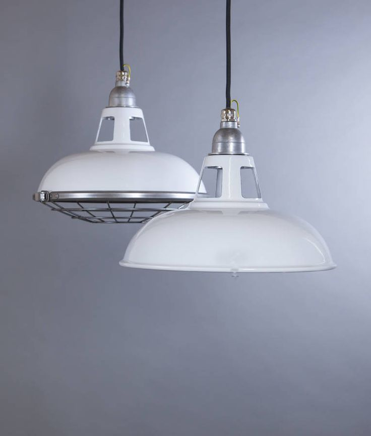 Farsley Enamel Industrial Factory Pendant Light