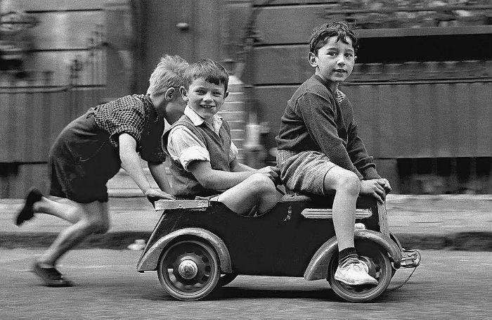 Trends in de fotografie: Vintage spelende kinderen