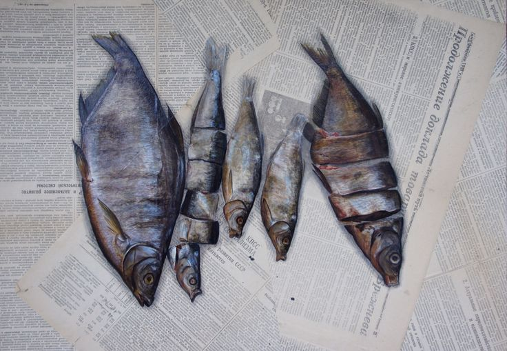 Fishes. Tempera, paper.