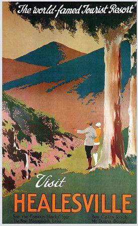 Visit Healesville, Victoria, Australia  http://www.vintagevenus.com.au/vintage/reprints/info/TV277.htm