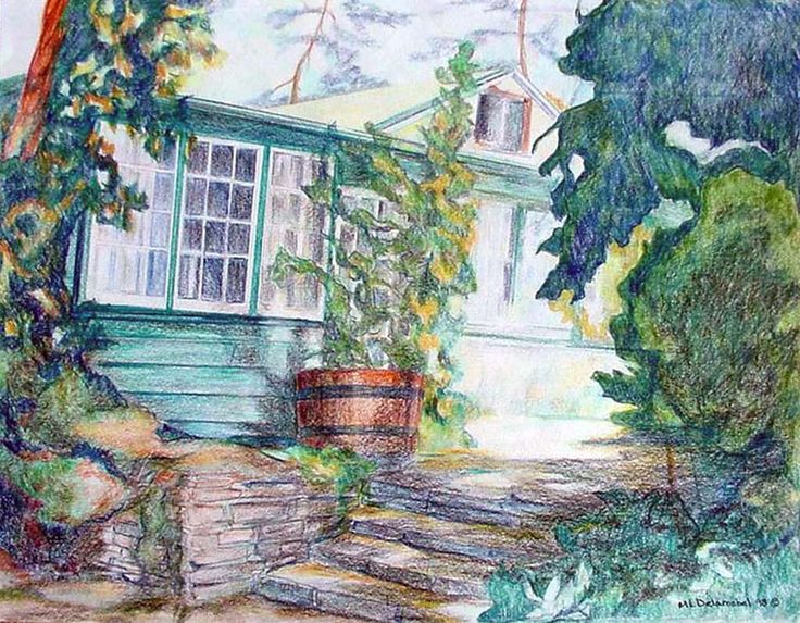 Mary Louise Delarosbel. Color pencil. Stavebank Cottage, Mississauga