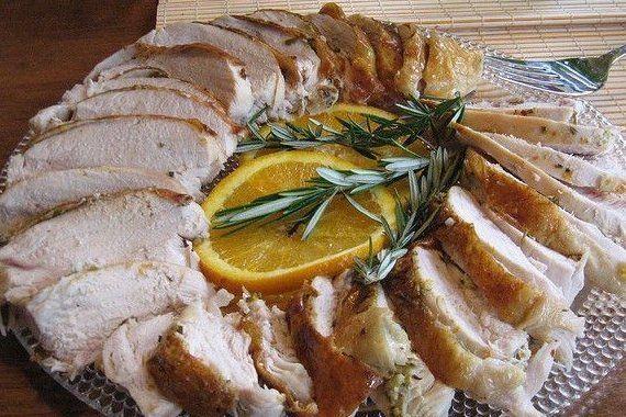Foto de la receta de pavo ahumado a la naranja