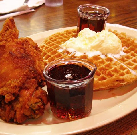Roscoes chicken and waffles. It tastes best after 10pm. (Image by: http://mad-wednesday.blogspot.com/)