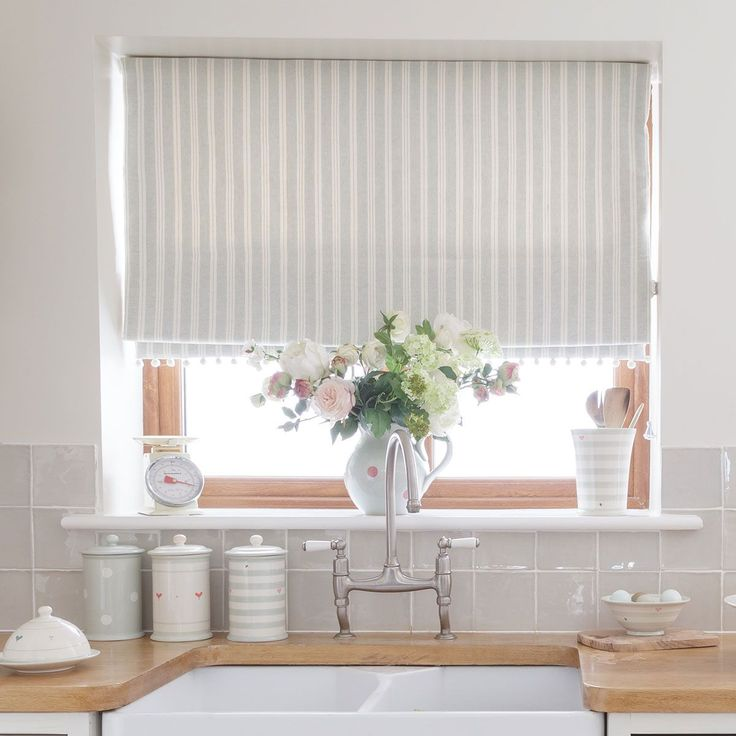 Country Blind Inspiration Sea Ivory Cambridge Stripe Blinds Creating The Perfect Laid Back