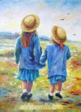 TWO SISTERS - Oil Painting by Vickie Wade