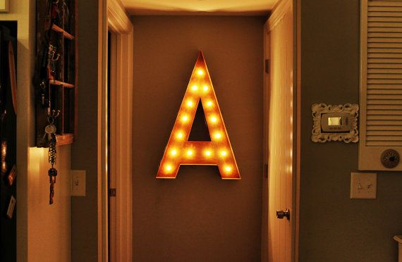 """Vintage Marquee Lights - Letter A 36"""""""