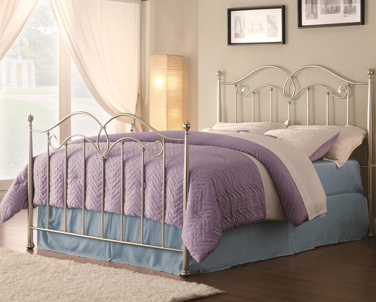 check out the coaster furniture queen headboard and footboard bed in silver guest room bed