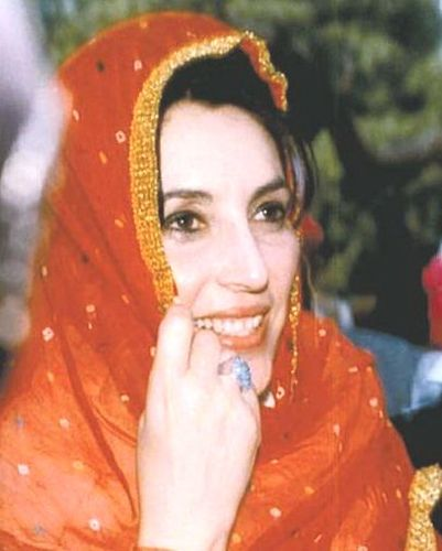 Benazir Bhutto: the first woman in Pakistan to head a major political party. In 1988, she became the first woman elected to lead a Muslim stateand was also Pakistan's first (and thus far, only) female prime minister. Noted for her charismatic authority and political astuteness, Benazir drove initiatives for Pakistan's economy and national security, and she implemented social capitalist policies for industrial development and growth. Her assassination sent Pakistan into crisis