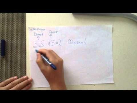 Schriftlich dividieren - Matheübungen und Mathetricks - YouTube
