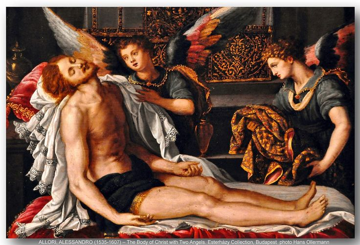 ALLORI, ALESSANDRO (1535-1607) – The Body of Christ with Two Angels. Esterházy Collection, Szépmüvészeti Múzeum (Museum of Fine Arts), Budapest.