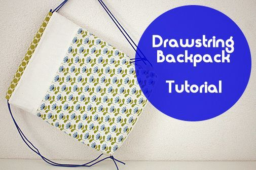 Free sewing pattern: drawstring backpack for kids. Looking for a sewing project for children? The drawstring backpack is great! Just follow the sewing tutorial   Happy in Red