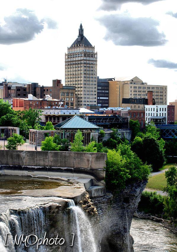 High Falls looking toward Kodak Headquarters, Rochester, NY.