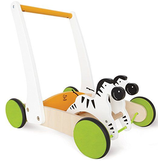 Hape Galloping Zebras Toddler Wooden Push and Pull Toy