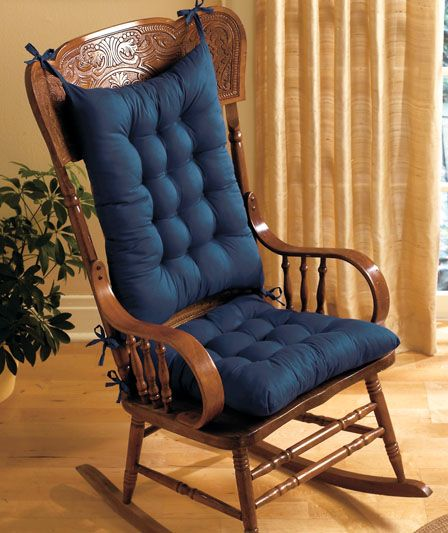 Rocking Chair covers - add some cushion in classic colors. Another Fave...
