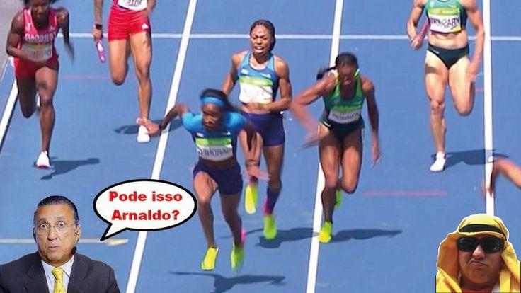 Treta 4x100m feminino, atletismo, Rio 2016, polêmica, Americanas tem se...