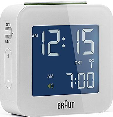 Braun bnc 008 #radio controlled #travel alarm #clock white new,  View more on the LINK: http://www.zeppy.io/product/gb/2/361890678215/