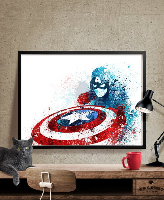 Captain America Wall Art 25+ best marvel wall art ideas on pinterest | marvel room, comic