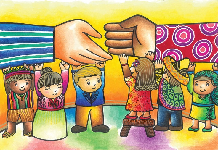 """""""Bringing Hands Together, Bridging Gaps Forever"""" by Jamia T., 7th Grade, Valenzuela City, Philippines, 2012 Embracing Our Differences Exhibit, via embracingourdifferences.org"""