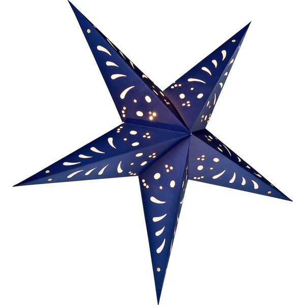 Paper Star Lantern (24-Inch, Navy Blue) - For Home Decor, Parties, and... ($12) ❤ liked on Polyvore featuring home, home decor, holiday decorations, cultural intrigue, battery operated lanterns, star home decor, navy blue paper lanterns and battery powered paper lanterns