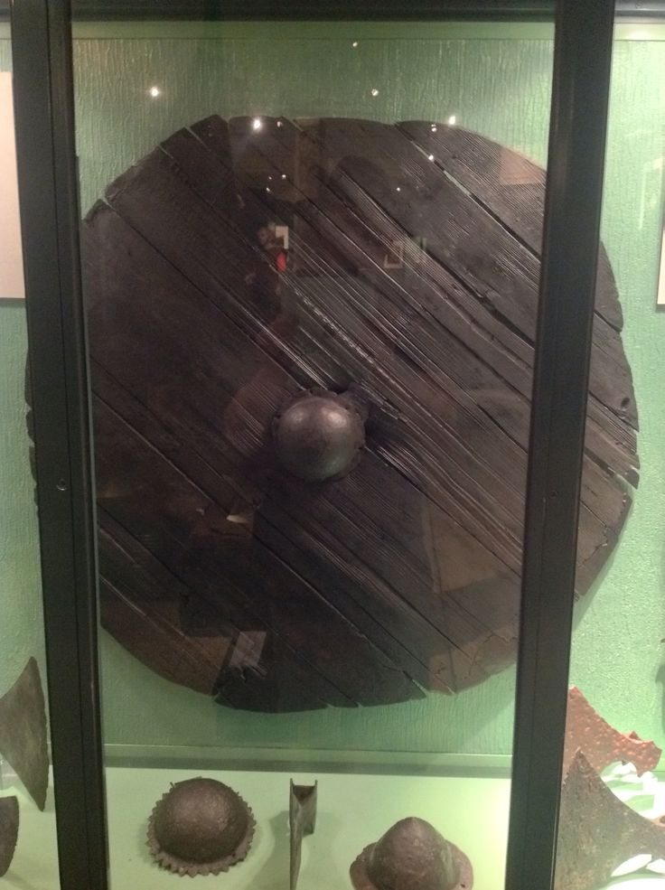 "Viking Shield Oslo Viking Museum ""But waken ye now, warriors mine;  seize your shields, be steadfast in valor, fight at the front, and fearless bide!"" From THE ATTACK ON FINNSBURG"