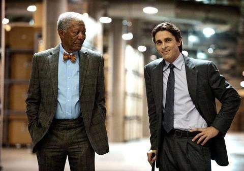 The Dark Knight Rises picture gallery: Lucius Fox and Bruce Wayne