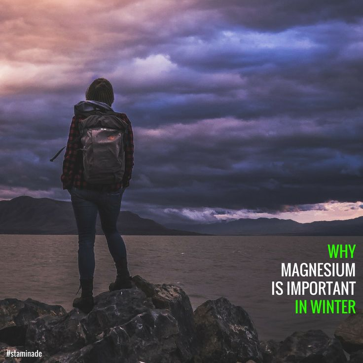 Anyone feeling the cold today? Brrr!! Magnesium is not only important in the hot weather, it's also important during Winter.