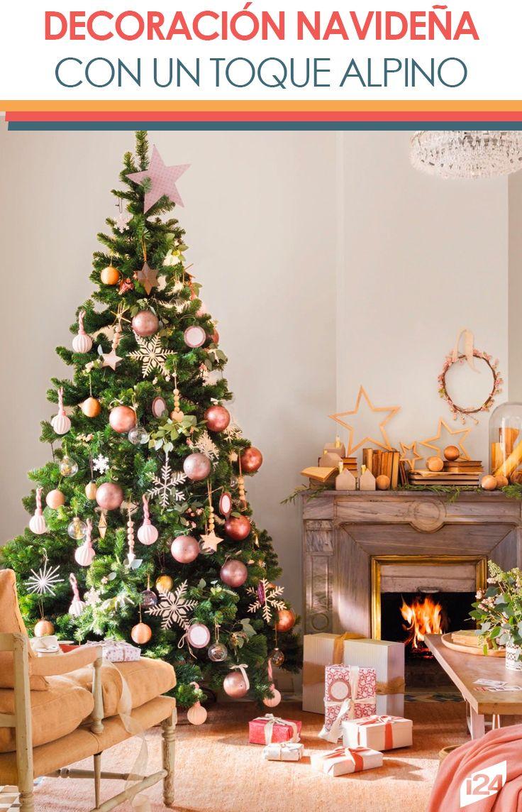 Engalana tu sala con estas ideas, geniales para una blanca navidad #ideas #decoración #navidad #christmas