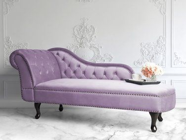 Meridienne En Velour Rose Cote Gauche Nimes Mobilier De Salon Salon Canape Canape Design
