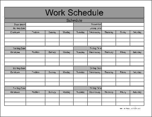 Here Is A Preview Of The Fancy Monthly Work Schedule Form Of62ot1c