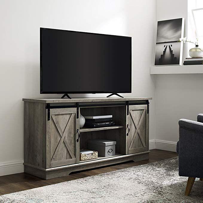 We Furniture Az58sbdgw Tv Stand 58 Grey Wash Review Living Room Storage Living Room Furniture Luxury Home Furniture