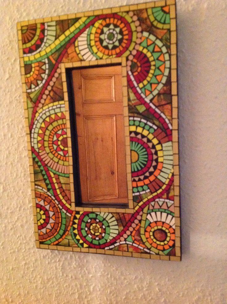paper mosaic mirror