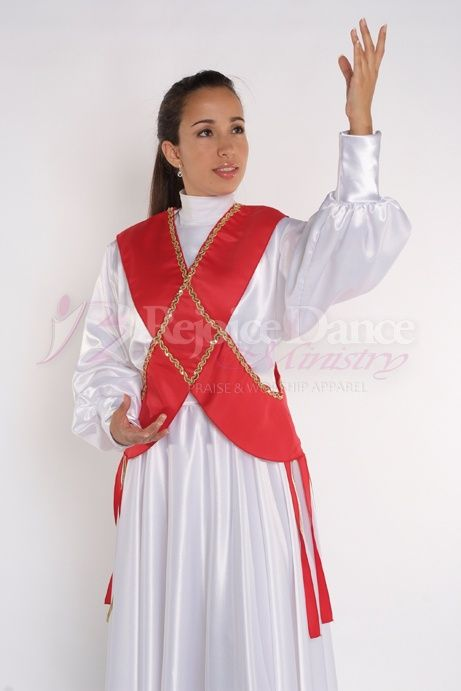 Crossed Ephod w/Sequin Decoration - Praise & Worship Dance Wear
